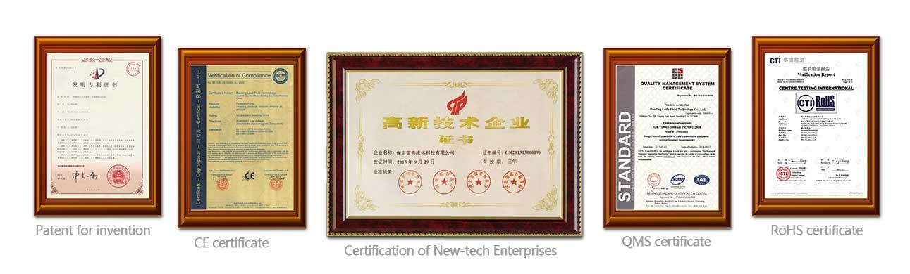 lead fluid certificate
