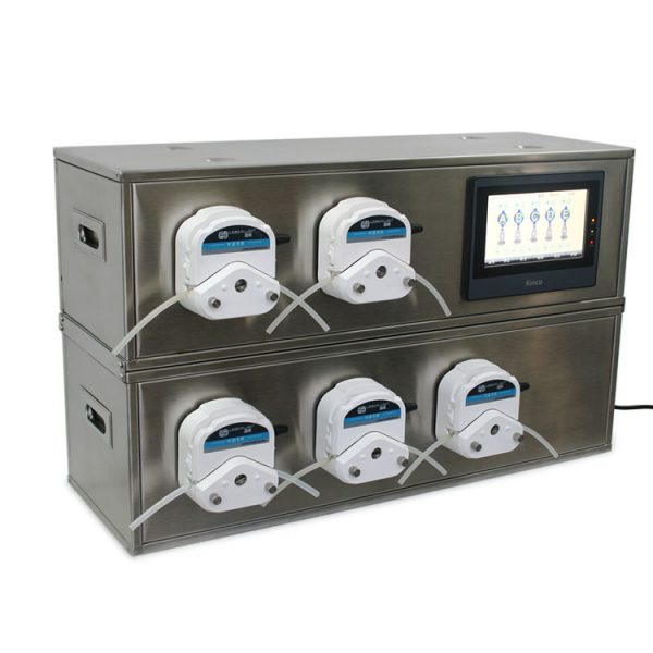 five channels peristaltic pump