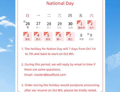 Lead Fluid National Day Holiday Notice