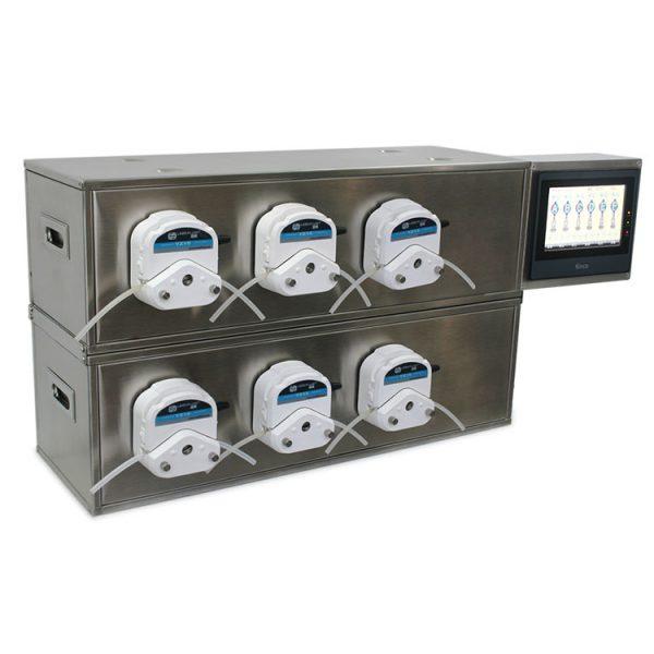 six channels peristaltic pump